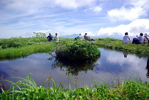白木峰 浮島のある池糖