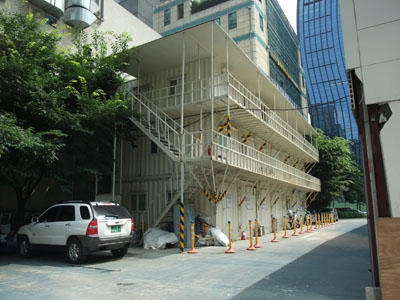 韓国 工事現場仮設