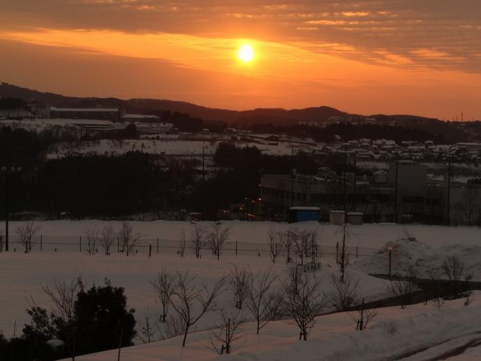 冬の夕景 金沢太陽が丘より