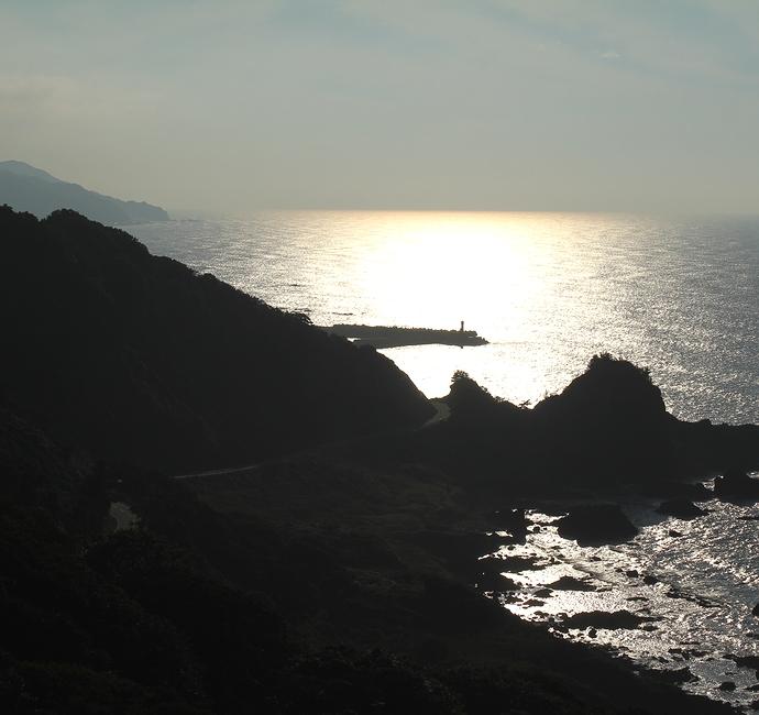 奥能登の海の絶景 椿の展望台にて