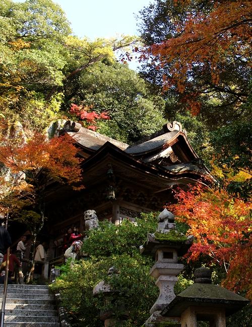 秋の那谷寺の本殿