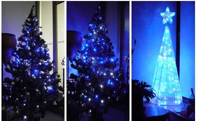 クリスマスツリー点灯1