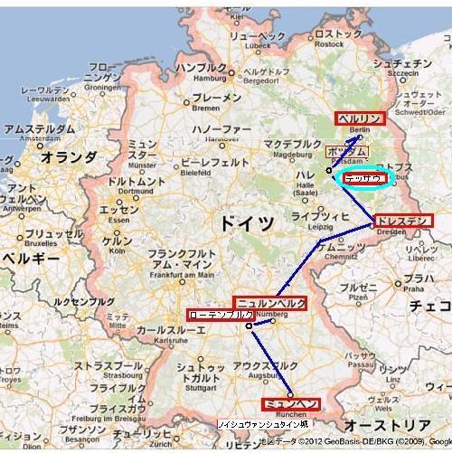 ドイツ全地図 dessau