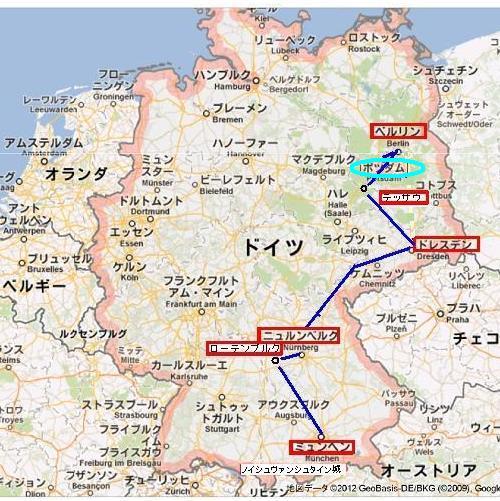 ドイツ全地図ポツダム