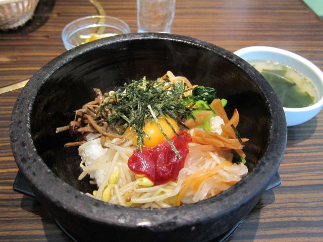 石焼ビビンバ+ワカメスープ
