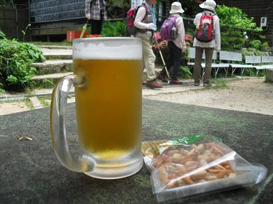 頂上のビール