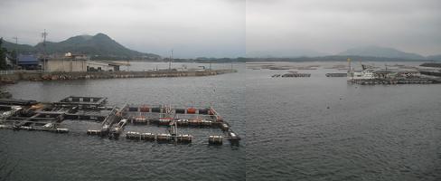 北浦海岸(漁協のレストランより)