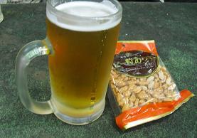金剛山・頂上のビール