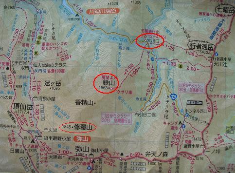 鉄山周辺地図