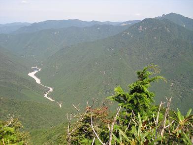 川迫川とバリゴヤの頭方面