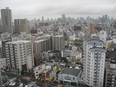 イーストガーデンより大阪市内方面