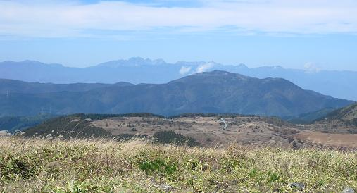 霧ケ峰高原より北アルプス