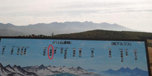 霧ケ峰高原より八ケ岳