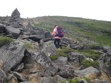 8 硫黄岳への登り