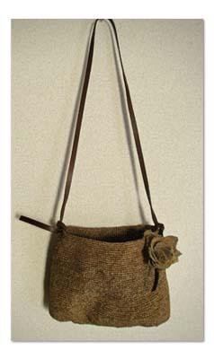 細編みのバッグ