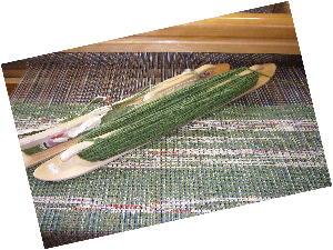 緑裂き織り1