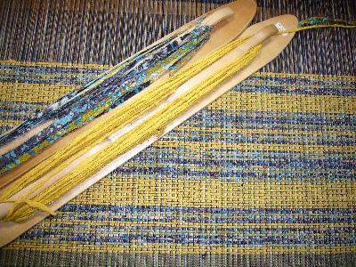 黄色裂き織り1