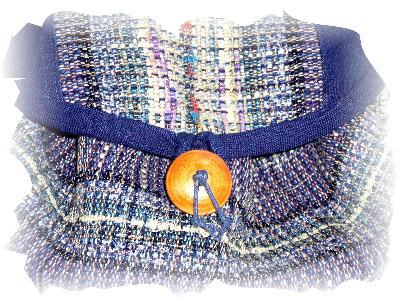 紺裂き織りショルダー3