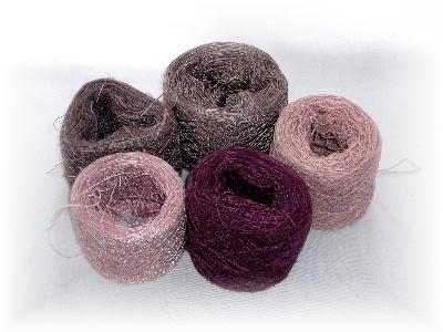 紫ストール糸