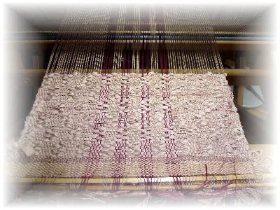裂き織りマフラー15-1
