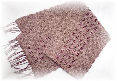 裂き織りマフラー16-1