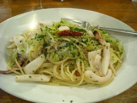 剣先イカのスパゲッティ