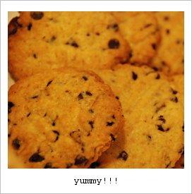 チョコチップクッキーの出来上がり♪