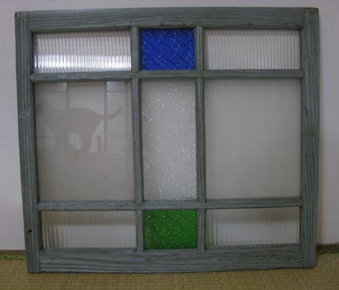 古民家のガラス窓