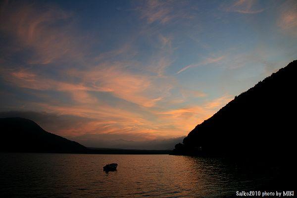 西湖夕焼け