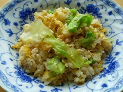 蟹レタス炒飯