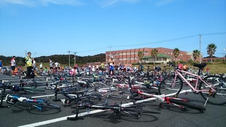 20141012⑫エイドの待ち自転車