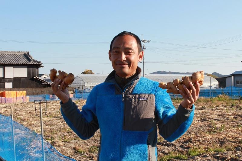 生姜収穫後の畑