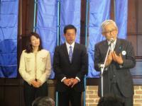 10.11.28 中村時広当選、加戸知事と2