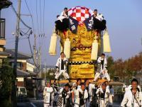 2011.10.16 朝日に映える東田太鼓台