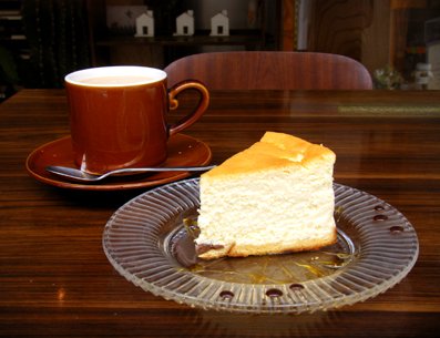 『モリタコーヒー』のチーズケーキ