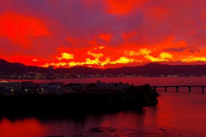 2012年10月18日茜色の夕陽