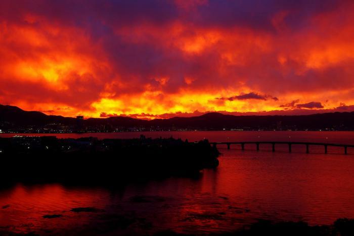2012年10月18日茜色の夕陽2