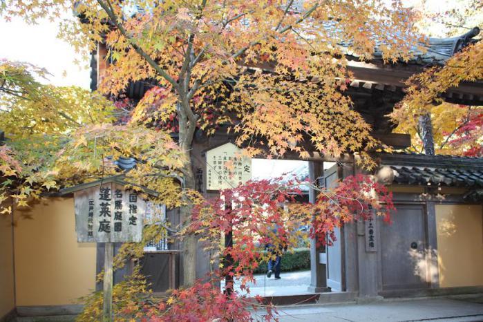 西明寺庭入口