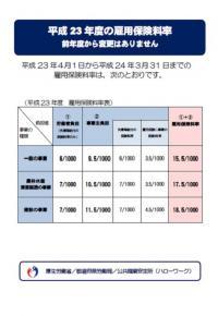 雇用保険料率【平成23年度】20110216