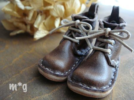 short boots*ダークブラウン