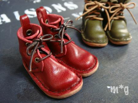 short boots ワインレッド