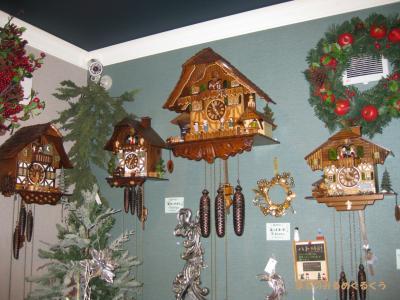 クリスマスショップ時計