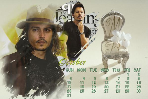 ジョニーカレンダー2010年10月