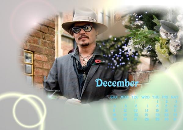 ジョニーカレンダー2011年12月用