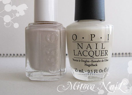 essie#630 Body Language(ボディ・ランゲージ) /OPI#H29 Time-less Is More(タイムレス イズ モア)