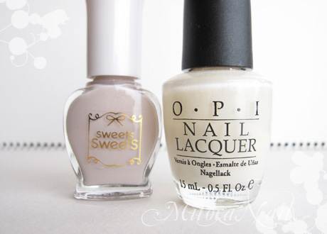 sweets sweets  NL35 オフグレイ/OPI#H29 Time-less Is More(タイムレス イズ モア)