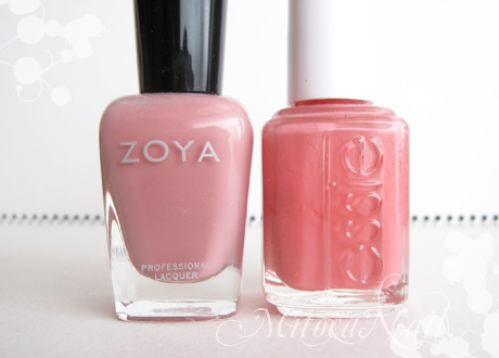 Zoya#ZP244 Mia(ミア)/essie#645 My Place or Yours(マイ・プレイス・オア・ユアズ)