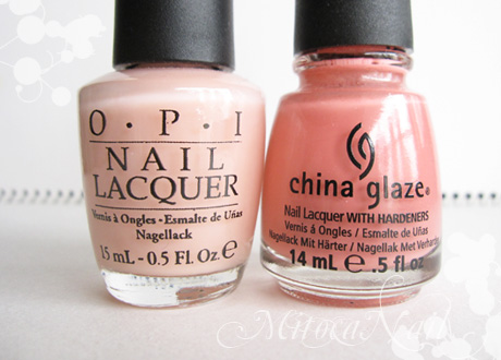 OPI#H19 Passion(パッション)/China Glaze#77004 IV(フォー)