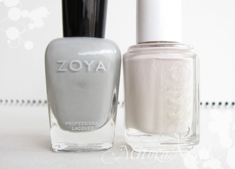 Zoya#ZP541 Dove(ドーヴ)/essie#630 Body Language(ボディ・ランゲージ)※廃盤