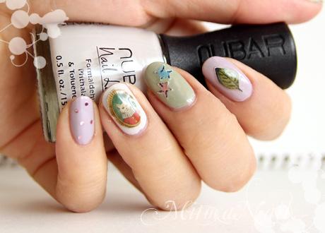 iDecora]を使って森のどうぶつネイル mitocaネイル|自爪ネイル